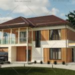проект дома из СИП панелей 208 метров