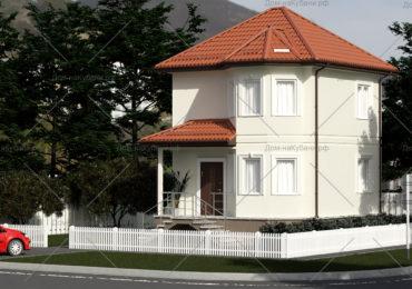 проект дома из СИП панелей 83 метра