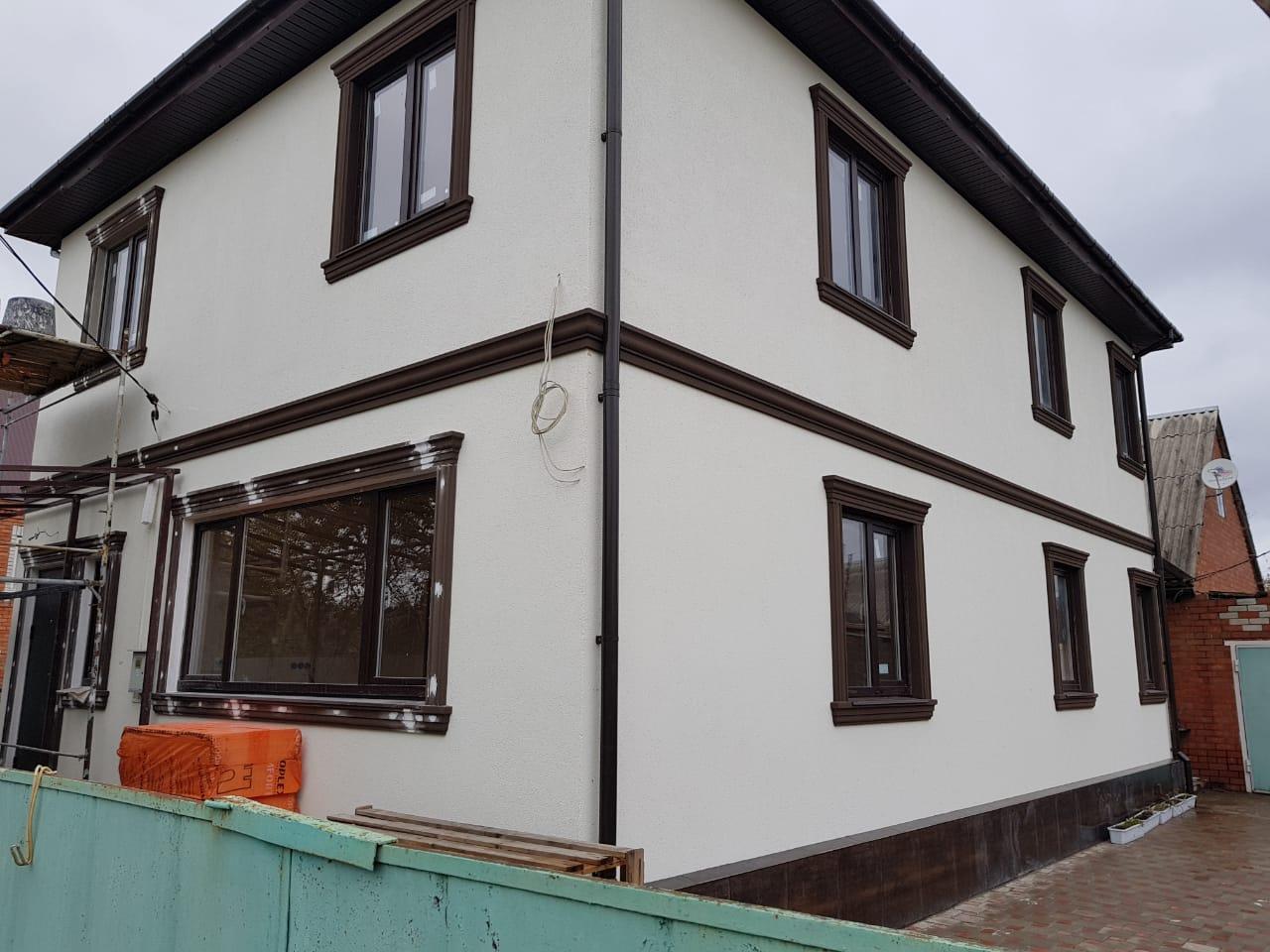 Построенный СИП дом в Медведовской