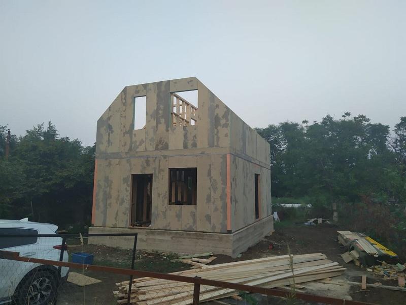 Дом из СИП панелей в Динской