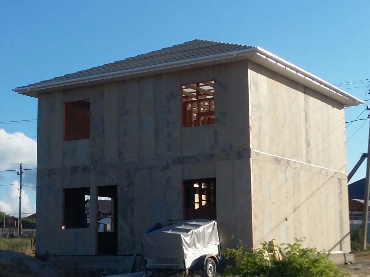 Строительство СИП дома в Раевской